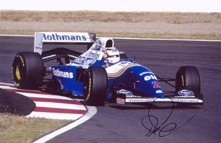 Nigel Mansell, signed 12x8 inch photo.